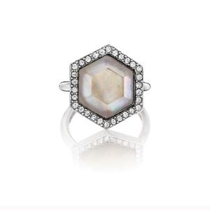 Chloe and Isabel mother of pearl ring